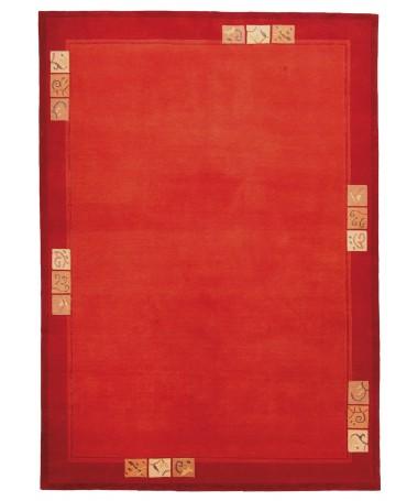 Dywan Wełniany Indyjski Indira Czerwień