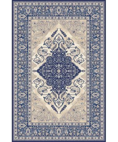 Dywan Wełniany Agnella Isfahan Leyla Ciemno Niebieski