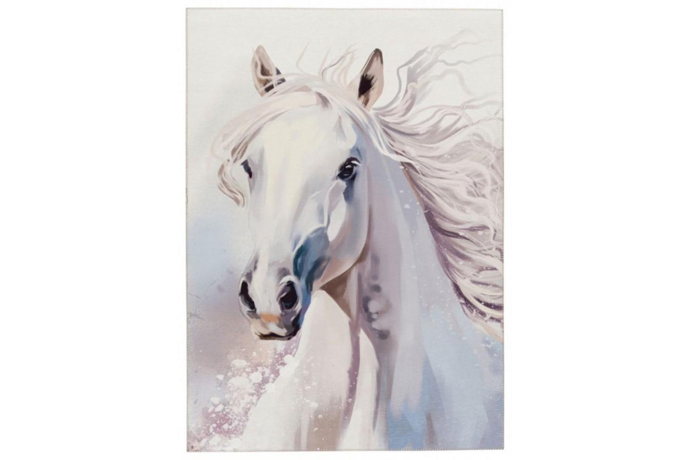 Piękny wizerunek konia, biały,  Torrino Kids 237 White Beauty