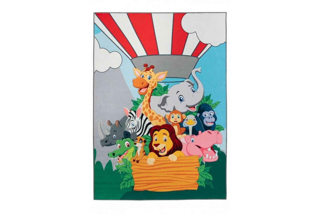 Balon pełen kolorowych i przyjaznych zwierzaków, dywan dziecięcy 239 Jungle