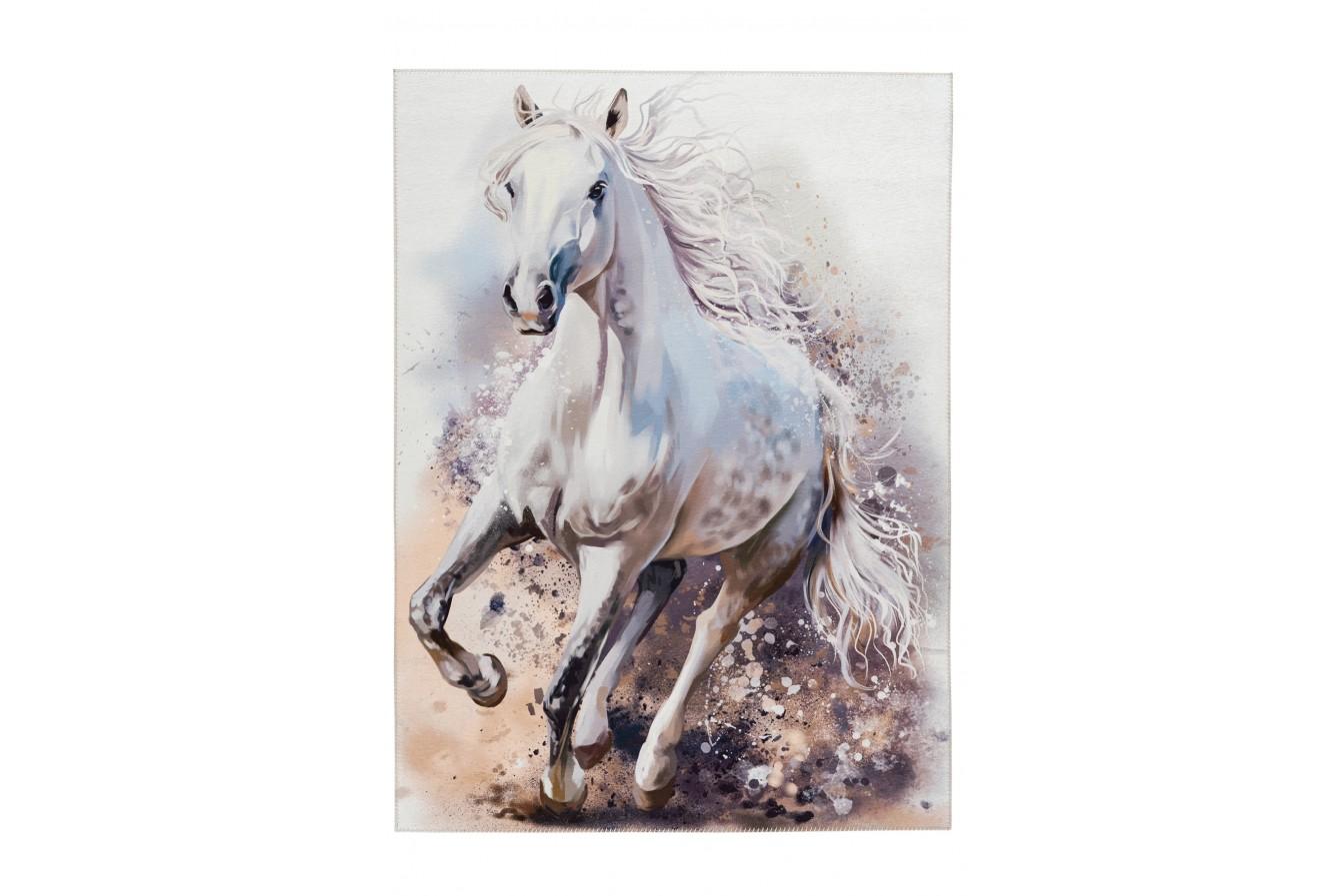 Piękny Obraz Konia Dywan Obsession Torino Kids TOK 235 White Horse