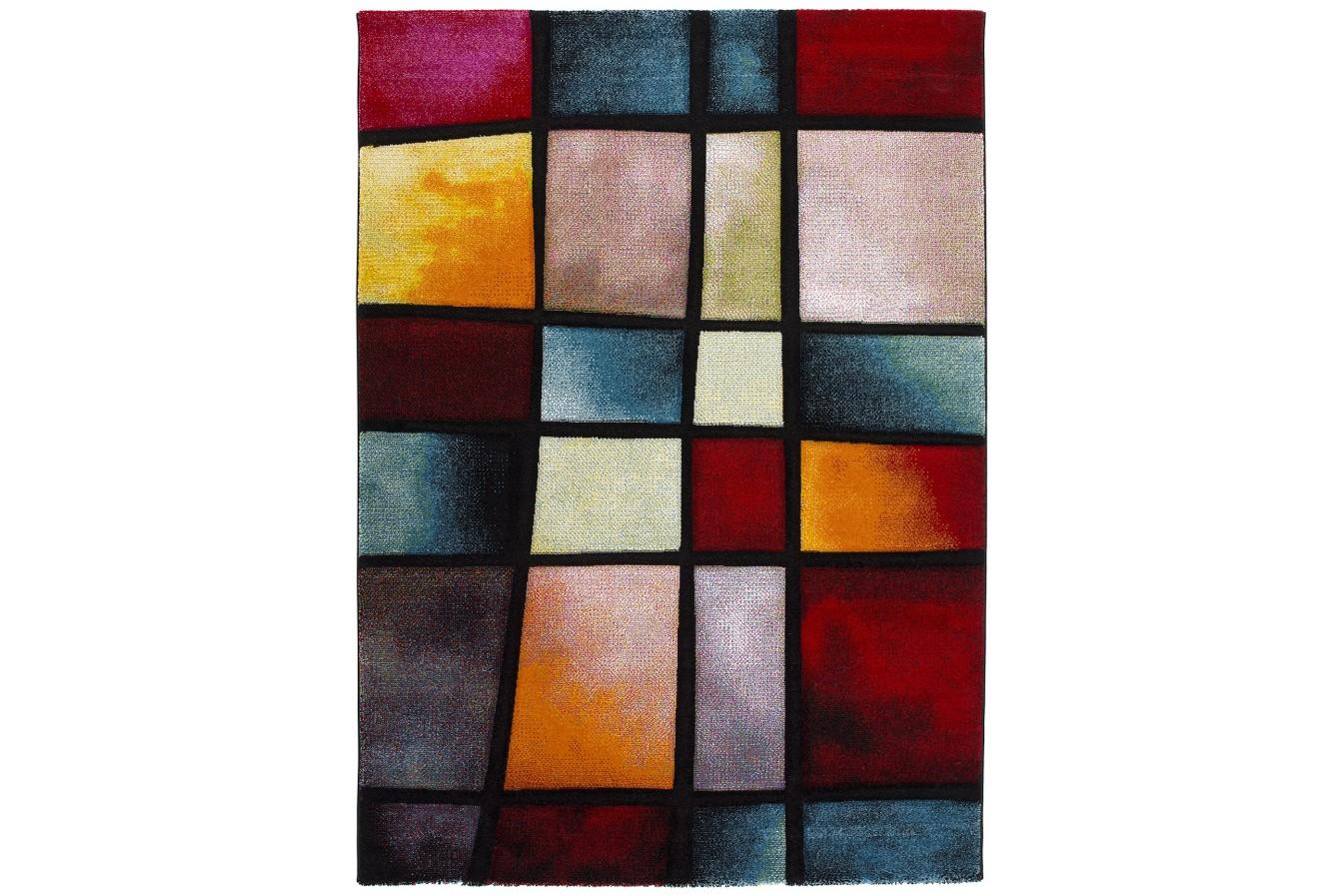 Modny Kolorowy Geometryczny Dywan Universal Malmo 21316 21 Multi