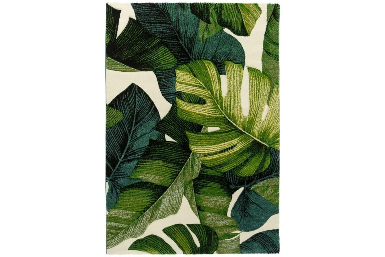 Modny Roślinny Gęsty Dywan Diamond Monstera Zielony