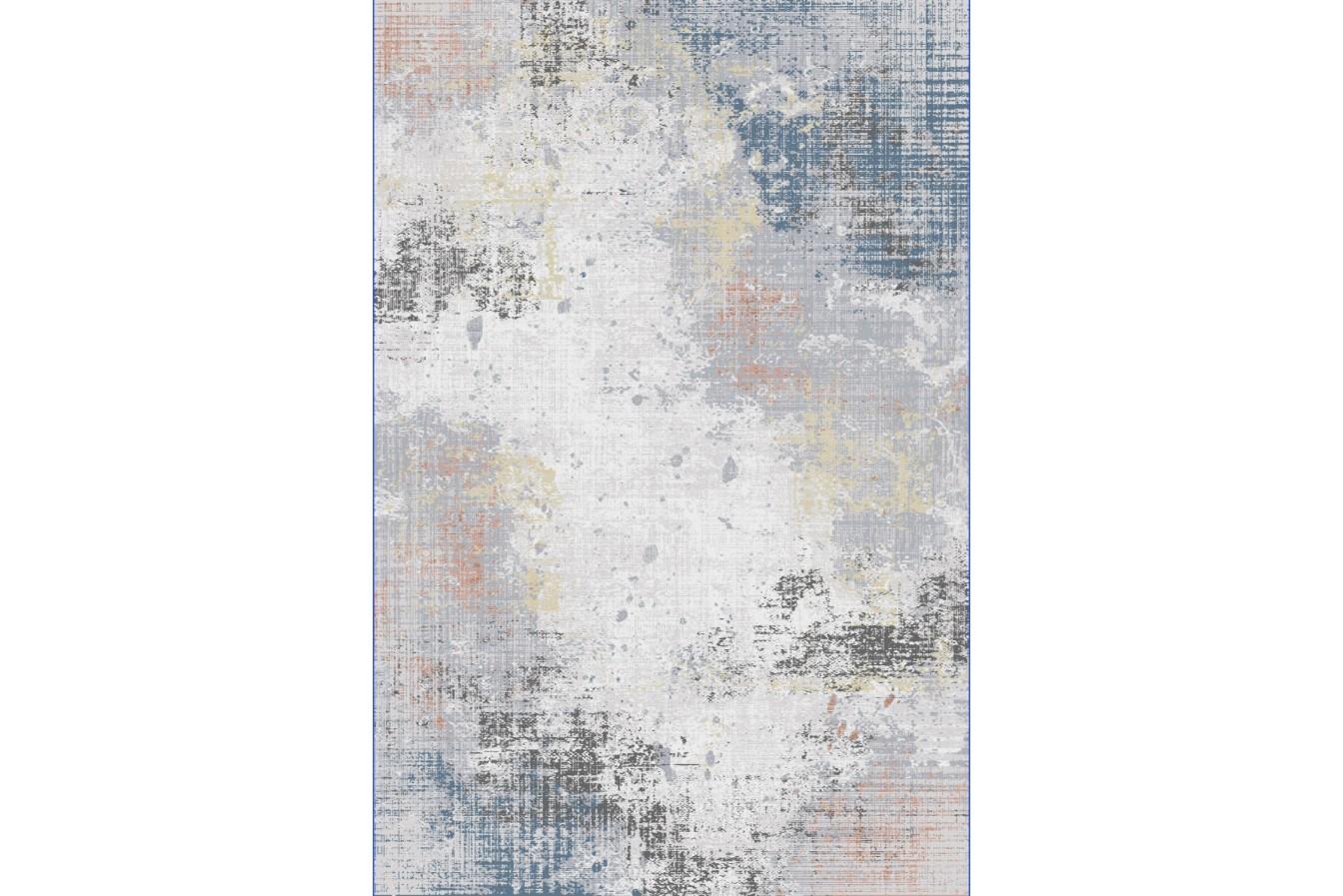 Przecierany Modny Szaro Niebieski Dywan Asti BD93A   Light Grey/Blue